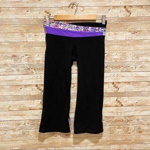 Ivivva Crop Capri Leggings with Purple Design